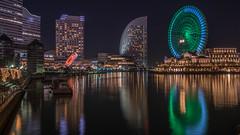 Night around Yokohama (jcjocom) Tags: ferrieswheel nightphotography longexposure tokyo yokohama