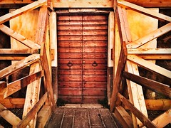 Umbria Norcia Wood - Material Architecture No People Outdoors Italy Earthquake (Lifeinpicture) Tags: umbria norcia woodmaterial architecture nopeople outdoors italy earthquake