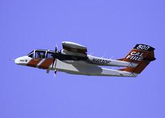 McClellan Air Attack (trifeman) Tags: 2017 winter march california canon 7d canon7dmarkii sacramento mcclellan firefighting wildfire airport aircraft airattack calfire bronco tamronsp150600mmf563divcusda011 tamron150600mm tamron n403df 500 kmcc mcc