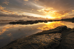 ~ Ethereal World II ~ (Tan Andy (Sorry if I did not reply)) Tags: malaysia borneo sabah kudat tipofborneo sunrise rock foreground light warm cloud seascape coast