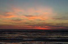 Hoylake Afterglow (David Chennell - DavidC.Photography) Tags: hoylake wirral sunset redsky windfarm merseyside