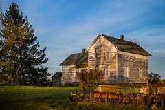 centennial farm (Christian Collins) Tags: canoneos5dmarkiv grass centennial farm michigan hsm midmichigan country countryside farmimplement hayrake farmhouse oldhouse tree sky