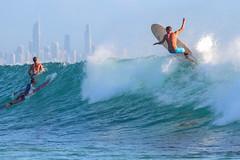 Off the lip (Howard Ferrier) Tags: australia currumbin currumbinrock goldcoast green ocean oceania pacificocean queensland recreation seq sportleisure surfing waves