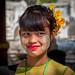 Jeune fille Birmane. Mandalay. Myanmar