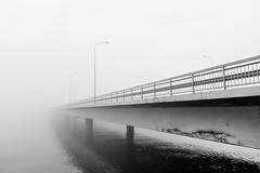 Road To Nowhere (pni) Tags: bridge fog mist water sea reflection monochorme helsinki helsingfors finland suomi pekkanikrus skrubu pni