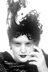 scarykine (deetay26) Tags: black white scary female fashion makeup model lady beaty