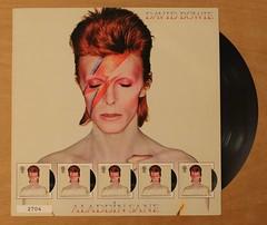 David Bowie - Aladdin Sane - Royal Mail Fan Sheet (Darren...) Tags: