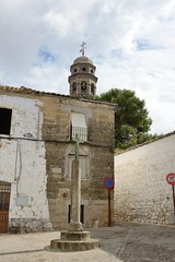 0462-20161014_Baeza-Spain-looking SE across Plaza de la Cruz Verde-Tower of Baeza Cathedral beyond (Nick Kaye) Tags: baeza andalucia spain europe streetscene