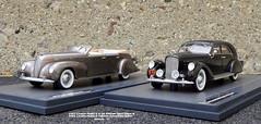 1937 Lincoln Model K V-12 Derham Sport Sedan & 1938 Lincoln Model K LeBaron Convertible Sedan (JCarnutz) Tags: 143scale diecast matrixmodels resincast 1937 1938 lincoln modelk derham lebaron