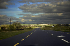 Beginning of a Long Road (seamusruizearle) Tags: ireland kildare countykildare county road highway freeway