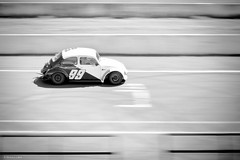 Racing (Vinicius_Ldna) Tags: 7609 panning racing car movimento corrida race racetrack autodromo carro speed velocidade vw beetle fusca canon 50mm monochrome monocromatico londrina parana brazil