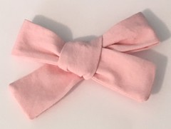 Baby Hair Bow...Pale Pink... (daffodil.lane) Tags: everythingpink pinkmakesmesmile repurposedmaterial thriftedfabric handmade babybows cutebabies daffodillane babystyle newparents babypink girly