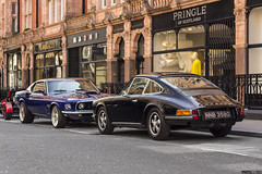 911T or Mustang Mach1 ? (Photocutout) Tags: porsche 911 911t mustang mach1 london photocutout cars supercars sportscars classic