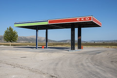 Abandonned gas station in Greece (Organ Vida Archive) Tags: europe eu eurocrisis euro financial economy petrolstation service bankrupt bankruptcy recession eko thiva greece