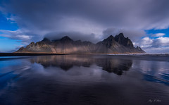 The Mighty Vestrahorn (Ping...) Tags: vestrahorn iceland reflection clouds volcanic blacksand batmanmountain sea nikond810 1424mmf28g