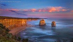 Sunset Reflections Opposite 12 Apostles (Lachlan Manley Photography) Tags: sunset 12apostles touristattractions ocean cliifs beach