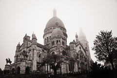 Basilica du Sacre-Coeur in the mist.. (ckollias) Tags: ancientcivilization architecture basilica buildingexterior builtstructure clearsky day dome history lowangleview montmartre nopeople outdoors religion sacrecoeur sky spirituality tourism travel traveldestinations tree paris