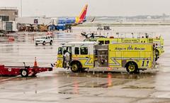 Cleveland Hopkins Airport Crash Rescue (Victor Dvorak) Tags: cle clevelandhopkinsinternationalairport arff cleveland ohio firefighting firedepartment clevelandfiredepartment aircraftrescuefirefighting americanairlines americaneagle aa3721 n654ae embraer erj145lr nikon d300s 2870mmf28d firefighter apparatus