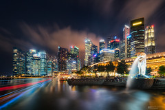 Lion City (Alexander Lauterbach Photography) Tags: singapore singapur city cityscape skyline night asia lion travel sony a7r a7rii