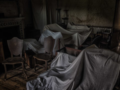 Surplus to Requirements (Alan E Taylor) Tags: calkeabbey abandoned atmospheric cloths dark derbyshire derelict dramatic england europe fineart furniture moody neglected ruin shadows unitedkingdom