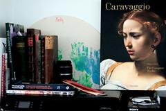 Caravaggio (Benn Gunn Baker) Tags: benn gunn baker canon 550d t2i bristol easter caravaggio book shelf still life