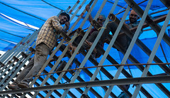 Welding framework of the ship. (JohnMawer) Tags: puthuvype vypin ship construction kerala india weld cochin bow kochi in