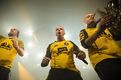 Amsterdam, The Netherlands  -16 April 2017: concert of Bosnian rock music band Dubioza Kolektiv at venue Melkweg -23 (CloudMineAmsterdam) Tags: dubiozakolektivmelkwegamsterdam amsterdam artists band concert concertlights crowd editorial electricguitar entertainment europe event gathering rock dub leisure lights loud music musician netherlands holland party people performance show singer vocals cheering audience happysmile fun hiphopreggae stage