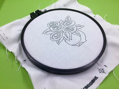 pattern in hoop