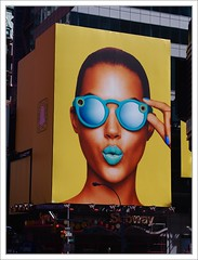 Times Square, NYC (Eddie Hales) Tags: ribbet billboard nyc thebigapple timessquare color girl sunglasses yellow