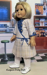"""1930s Pleated Frock made to fit 18"""" American Girl Kit (Keepersdollyduds) Tags: 1930s keepersdollyduds keepers 18 doll dollclothes frock pleats asymmetrical kit"""