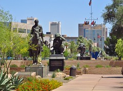 Phoenix, Arizona (Jasperdo) Tags: wesleybolinmemorialplaza phoenix arizona roadtrip memorial statue