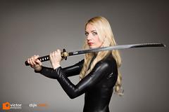 Katana girl (Victor van Dijk (Thanks for 4M views!)) Tags: katana ninja sword samurai model blonde girl woman female strobist black catsuit elinchrom quadra ranger portret portrait lumopro beautydish westcott apollo orb skyport fav fave faved favorite