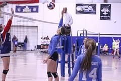 IMG_3629 (SJH Foto) Tags: girls volleyball teen teenager team quickset storm u14s jump spike burst mode net battle block action shot midair