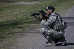 170423-Z-NI803-190 (Matt Hecht) Tags: usa usaf usairforce unitedstatesairforce airmen airnationalguard nj newjersey njng njang 108thwing securityforces tactical squad training jointbasemcguiredixlakehurst m4 rifle military