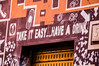 TAKE IT EASY ... (Federico Violini) Tags: rome roma nikon d90 graffiti street streetphotography streetartist streetart sanlorenzo 21 easy takecare take it haveadrink phone arrows