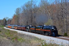 Steam Excursion in the Spring (H-bob-omb) Tags: norfolk western 484 steam locomotive 611 nw engine train sycamore virginia railroad railway streamlined streamlining