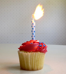 Biow out the candle (lindakowen) Tags: cupcake candle frosting birthday flame