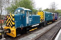 Diesel Gala Weekend, Avon Valley Railway, Bitton (Kev Slade Too) Tags: diesel bitton avonvalleyrailway class08 class09 class07 07010 08822 d3668
