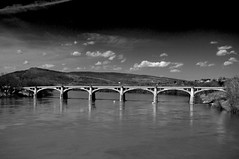 Ft. Jenkins Bridge (Brad Clinesmith) Tags: bridge blackandwhite bw river downtown pennsylvania pa susquehanna nepa pittston wyomingvalley us11 afsdxvrzoomnikkor1855mmf3556g