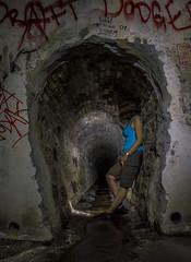 Drain Change (darkday.) Tags: urban woman brick water underground concrete graffiti extreme australia brisbane drain explore urbanexploration qld queensland headlamp exploration milf 73 urbex brickdrain