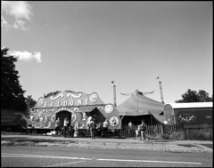 Circus Baldoni (holtelars) Tags: blackandwhite bw 120 film monochrome analog mediumformat denmark pentax d76 analogue 6x7 ilford fp4 67 45mm f40 filmphotography fp4plus pentax6x7 fpp classicblackwhite homeprocessing filmforever idealformat smcpentax6x7 larsholte