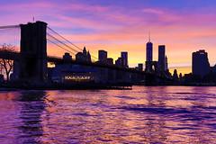 Brooklyn Bridge and Lower Manhattan (ANZ787900) Tags: world new york city nyc bridge sunset ny brooklyn one twilight manhattan distri