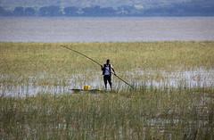 127/365 (mckenziemedia) Tags: lake blur grass canon project eos boat fisherman dof bokeh mark may pole ii l 5d 365 ethiopia awassa ef 100400mm oof 2014 awasa project365 hawassa