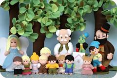 Pinóquio (Casinha de Pano) Tags: fairytale handmade felt feltro crianças pinocchio árvore pinóquio fadaazul gepeto cocheiro grilofalante espoleta contoinfantil enfeitemesa
