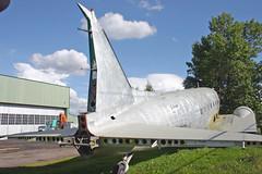DOUGLAS C47 C-FFAY bare metal (shanairpic) Tags: dc3 reddeer c47 douglasdc3 propliner cffay
