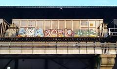 SIGH WOLF LYES (BLACK VOMIT) Tags: car train graffiti ol wolf south dirty mc dos sigh coal agk freight wh lyes coalie