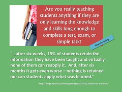 "Educational Postcard:  ""Are we really teaching if the students don't remember?"" (Ken Whytock) Tags: school test students education skills learning knowledge teaching exam learn failed virtually retain"