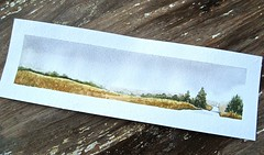 late winter (: : lynn bowes : :) Tags: winter snow watercolor painting landscape nebraska atmosphere grassland lynnbowes