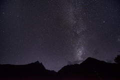 Incan Milky Way (Greg - AdventuresofaGoodMan.com) Tags: longexposure mountains peru nature silhouette night stars estrellas nightsky constellation milkyway wayllabamba milkeyway