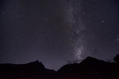 Incan Milky Way (Greg - AdventuresofaGoodMan.com) Tags: longexposure mountains peru nature silhouette night stars estrellas nightsky constellation milkyway wayllabamba milkeyway